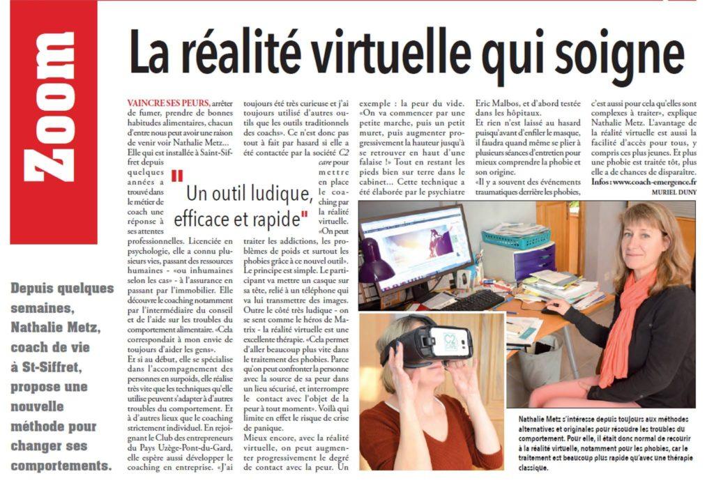 phobie soignée par la réalité virtuelle
